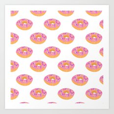 Doughnut Heaven  Art Print