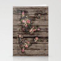 Wood Flowers Mapamundi Stationery Cards