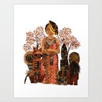 The Visiting Preistess Art Print
