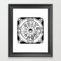 Chinese Zodiac Framed Art Print