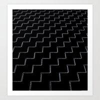 ZigZags Dark Art Print