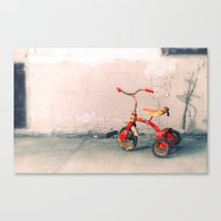 Childs Vintage Tricycle Canvas Print