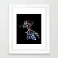 Blood, Breath, Bone Framed Art Print