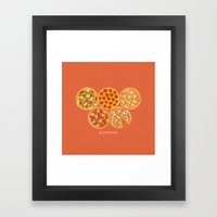 Olympizza Framed Art Print