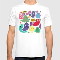 Colorful Creatures Mens Fitted Tee White SMALL