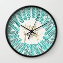 Treat Yo Self – Gold & Turquoise Wall Clock
