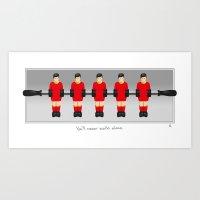 Liverpool table football (fossball) Art Print
