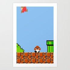 Minion's Last Rites: Mario's Goomba Art Print