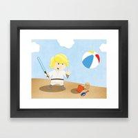 SW Kids - Luke At The Be… Framed Art Print