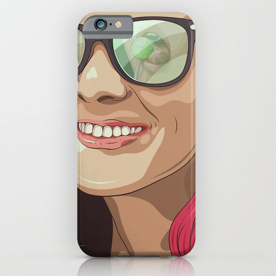 Girl with glasses iPhone & iPod Case