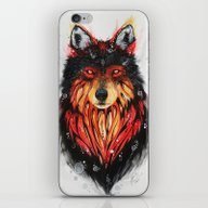 Fire Wolf iPhone & iPod Skin