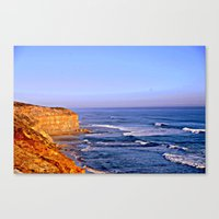 Sunset Over The Great So… Canvas Print