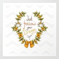 Flower laurel Art Print