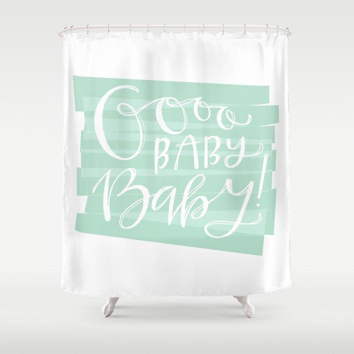 oooo baby baby blue shower curtain by jasmine nora jones society6