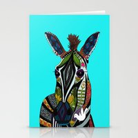 Zebra Love Turquoise Stationery Cards