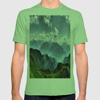 Mountain Peaks In Austri… Mens Fitted Tee Grass SMALL