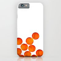 Crystal Balls Orange iPhone 6 Slim Case