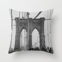 Brooklyn Bridge III Throw Pillow