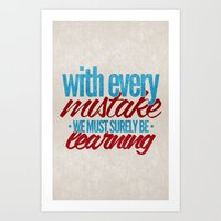 While My Guitar Gently W… Art Print