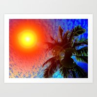 January in Miami Art Print