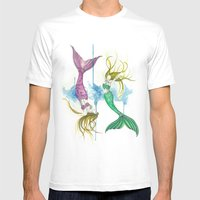 Zodiac - Pisces Mens Fitted Tee White SMALL