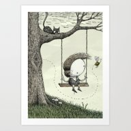 'Swing' Art Print