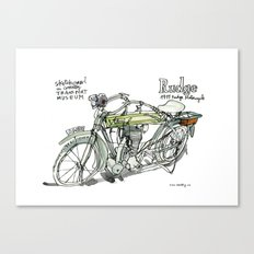 RUDGE, 1911 motorcycle, UK Canvas Print