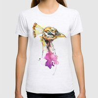 Sunset Peacock Womens Fitted Tee Ash Grey SMALL