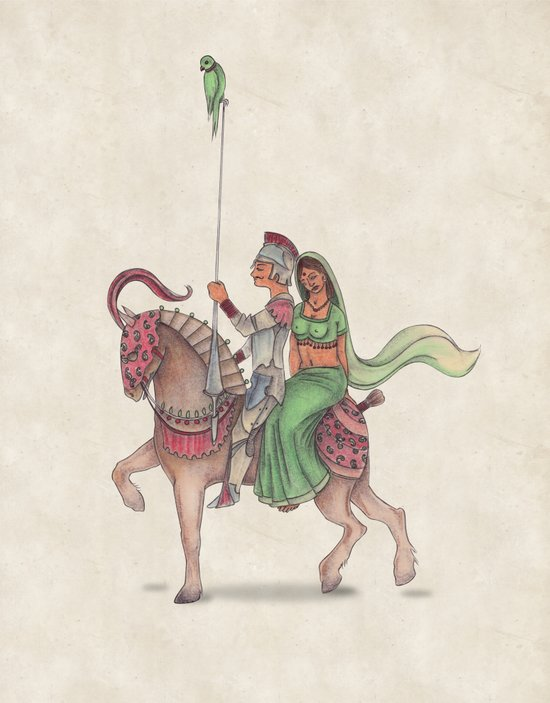 Indian Knight Art Print