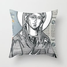 Madonna of Today's Horoscope Throw Pillow