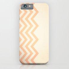 Orange Textured Chevron iPhone 6 Slim Case