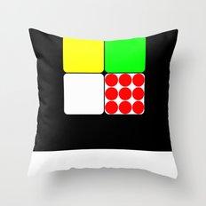 Tour de France Jerseys 3 Black Throw Pillow
