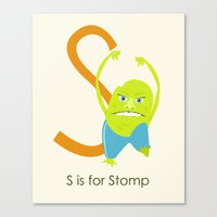 S is for Stomp Canvas Print