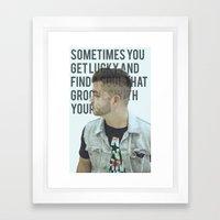 Grooves Framed Art Print