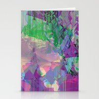 Glitched Landscape 2 Stationery Cards