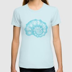 Shell Womens Fitted Tee Light Blue SMALL