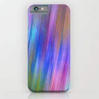 iPhone Cases featuring Modern colourful wild stripes abstract by thea walstra
