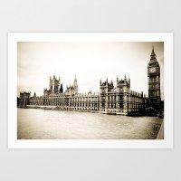 Big Ben And The Houses O… Art Print