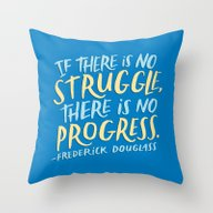 Throw Pillow featuring Frederick Douglass On Pr… by Josh LaFayette