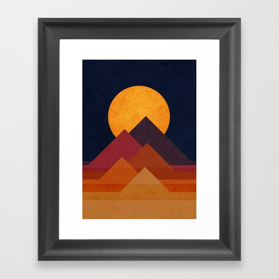 Full Moon And Pyramid Framed Art Print By Picomodi Society6