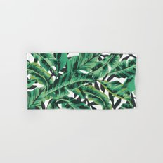 Tropical Glam Banana Leaf Print Hand & Bath Towel