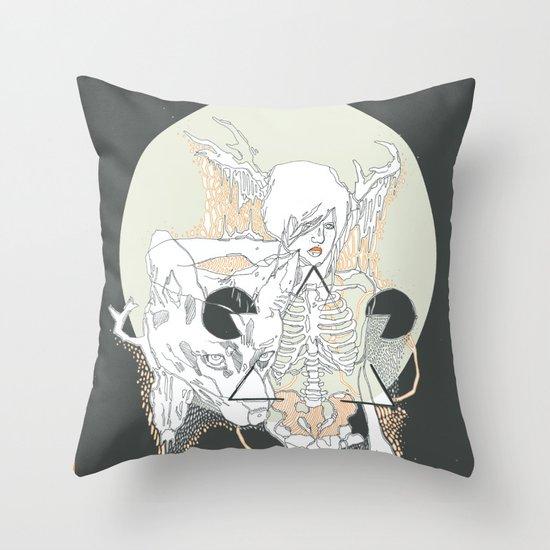 moon stone Throw Pillow