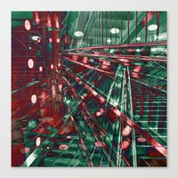 Abstract City Lines Canvas Print