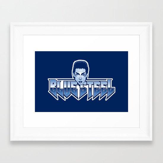 Blue Steel Framed Art Print