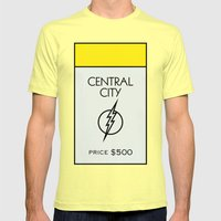 Central City Monopoly Location Mens Fitted Tee Lemon SMALL