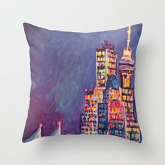 From Vancouver Harbour Throw Pillow