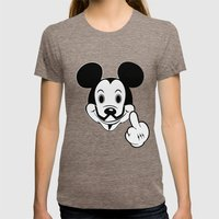 Mask Anonymouse Womens Fitted Tee Tri-Coffee SMALL