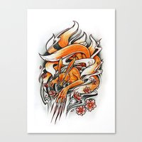 Angry Kyuubi Canvas Print