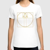 Heart of Gold Womens Fitted Tee White SMALL