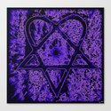 Violet Thoughts - Heartagram Canvas Print
